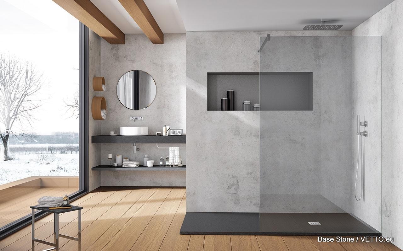 Base beton brodzik z konglomeratu - Acquabella piatto doccia ...